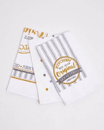 Printed Tea Towels - Pack Of 3