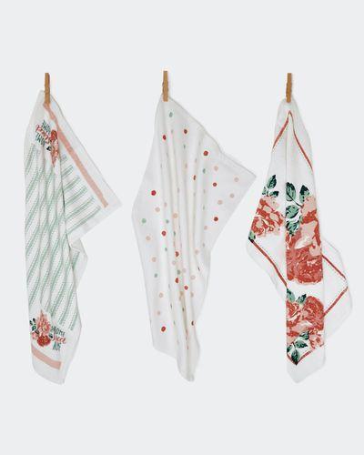 Printed Tea Towel - Pack Of 3