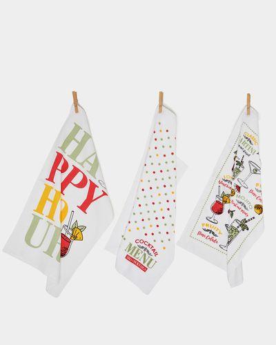 Printed Tea Towel - Pack Of 3 thumbnail