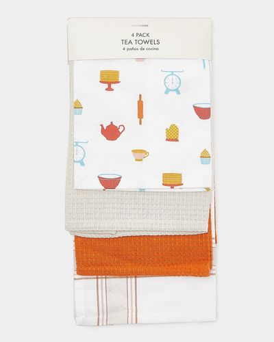 Printed Tea Towels - Pack Of 4