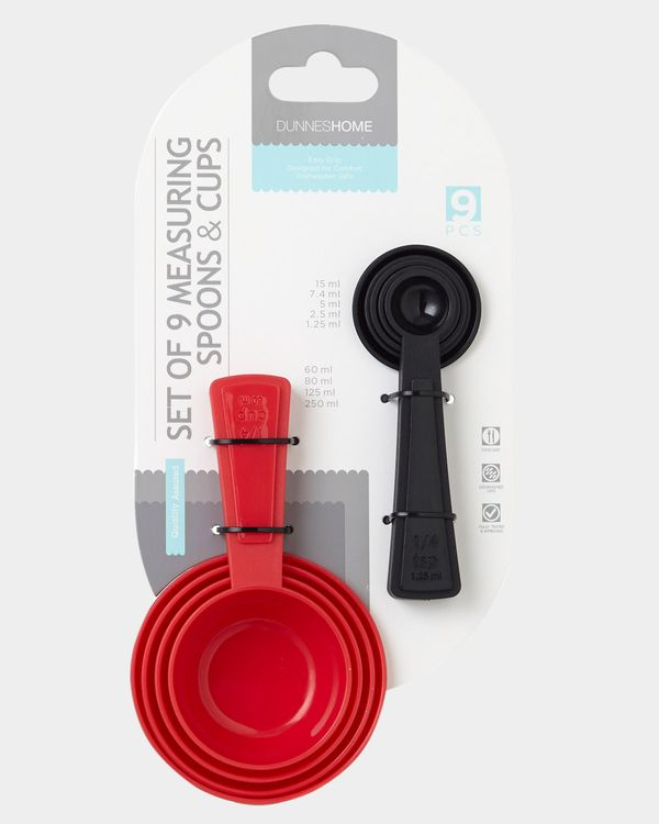 Measuring Spoons And Cups - Set Of 9