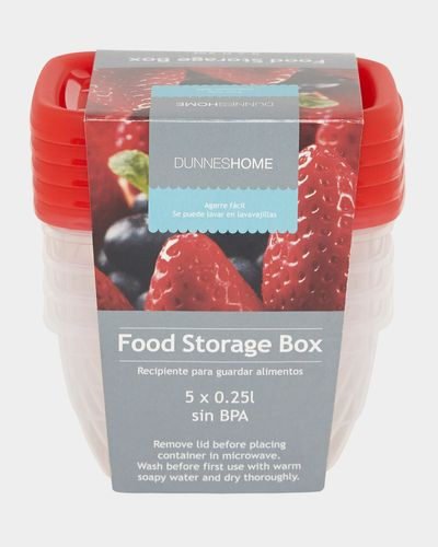 Food Boxes - Pack Of 5