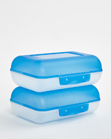 blue Two Pack Lunch Box Set