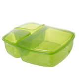 green Multi Section Lunch Box