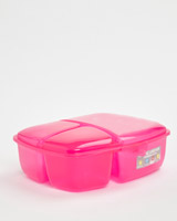 pink Multi Section Lunch Box