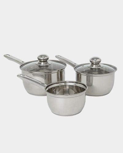 Stainless Steel Three Piece Cookware Set