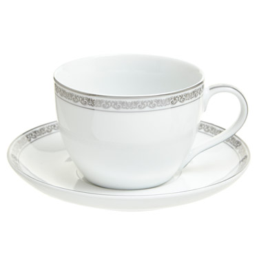 whiteAnnecy Cup And Saucer