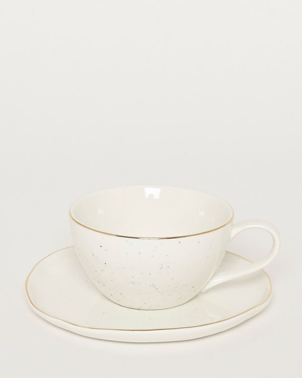 Artisanal Cup And Saucer