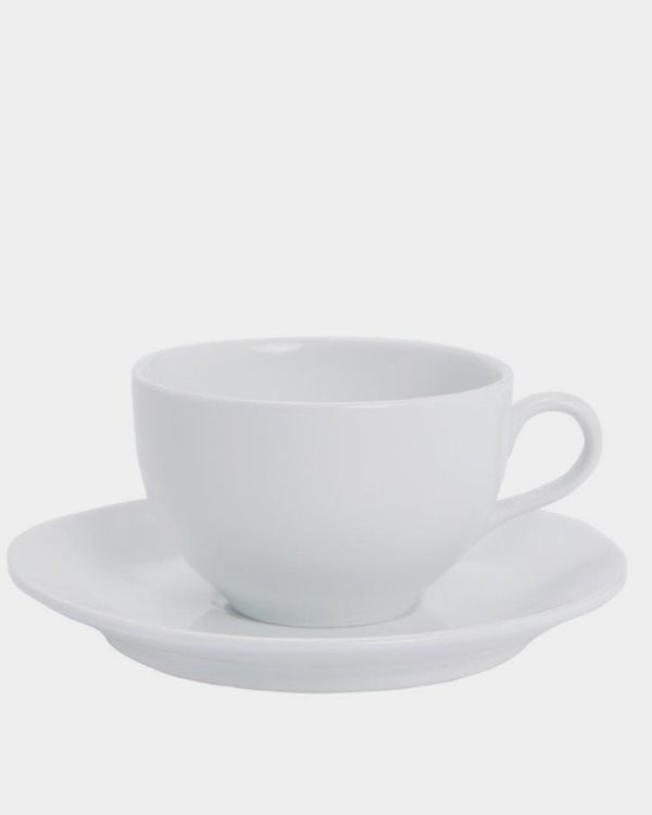 Simply White Cup And Saucer