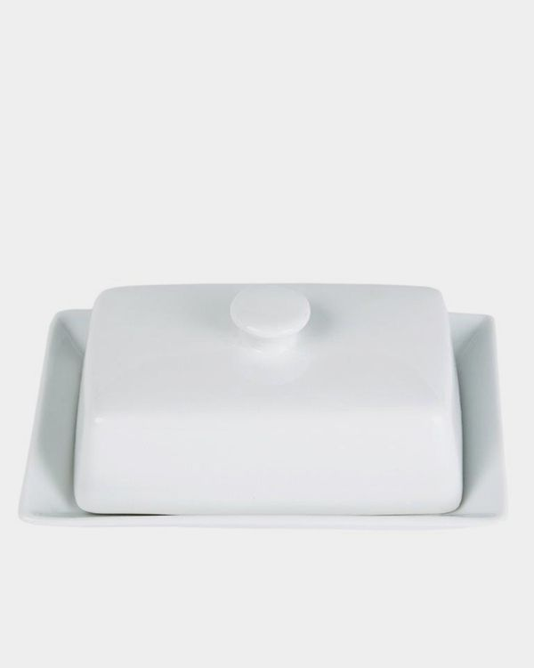 Simply White Butter Dish