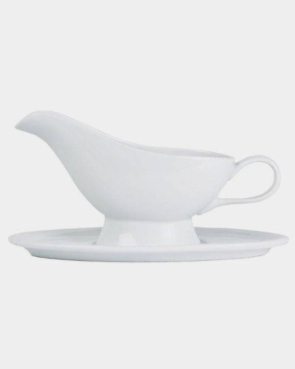 Simply White Gravy Boat-and-Saucer