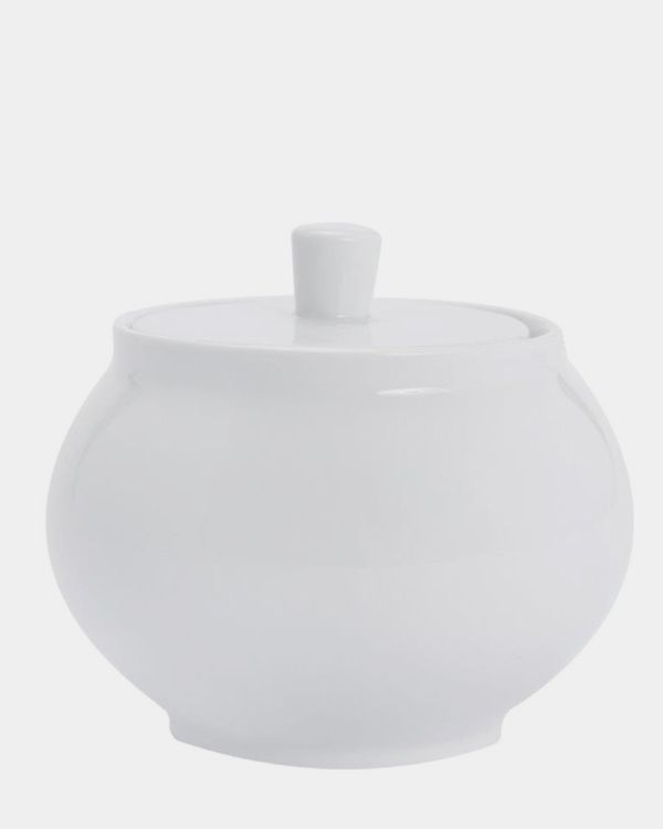 Simply White Sugar Bowl With Lid