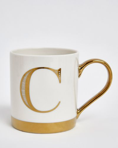 Gold Decal Alphabet Mug