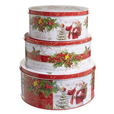 red-whiteChristmas Cake Tin