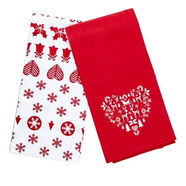 red-whiteNordic Tea Towels - Pack Of 2