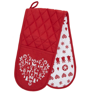 red-whiteNordic Double Oven Glove