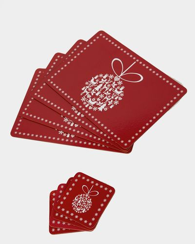 Christmas Placemats And Coasters - Set Of 4