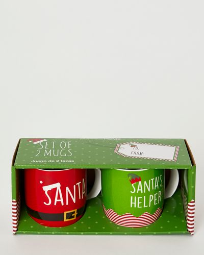 Christmas Design Mugs - Pack Of 2