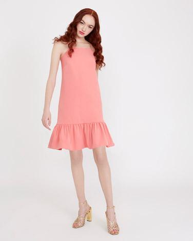 coralSavida Peplum Hem Dress