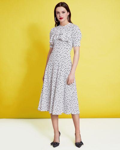 Savida Polka Dot Frill Dress