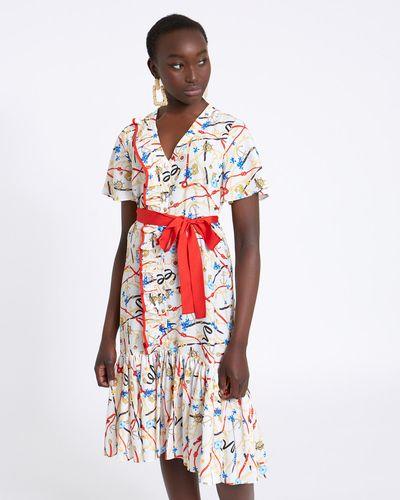 Savida Print Belted Dress