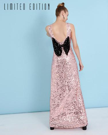 pinkSavida Bow Sequin Dress (Limited Edition)