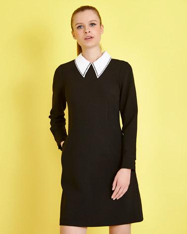 blackSavida Sequin Collar Dress