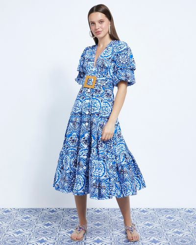 Savida Aztec Print Midi Dress