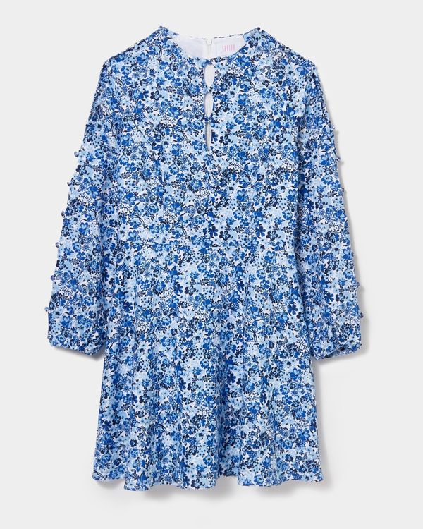 Savida Lily Print Button Dress