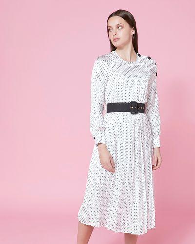 Savida Print Dress With Belt
