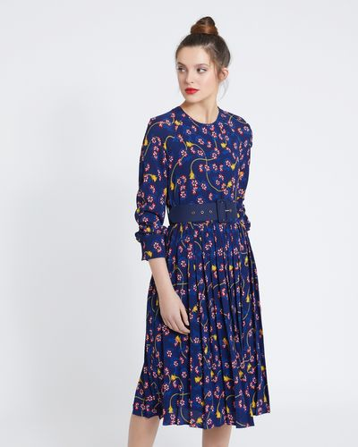 Savida Print Dress With Belt