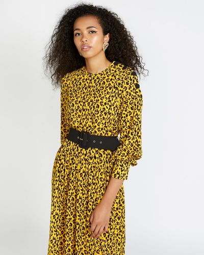 Savida Leopard Print Dress With Belt