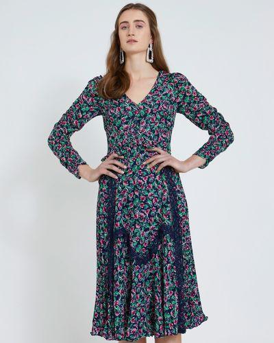 Savida Print Lace Detail Dress