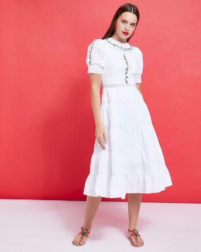Savida Lace Embroidered Midi Dress