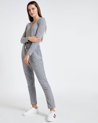 Savida Soft Touch Button Jumpsuit