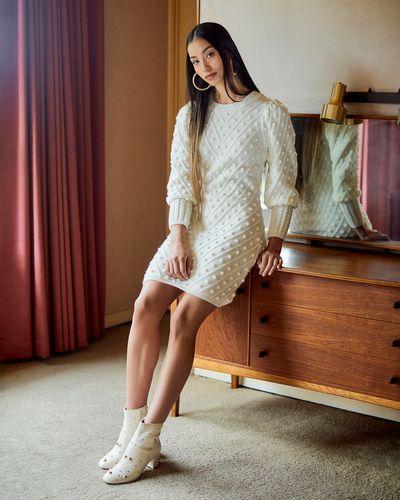 Savida Bobble Knit Mini Dress