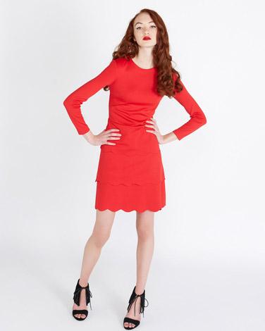 redSavida Roxy Scallop Dress