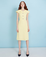 lemon Savida Layered Collar Dress