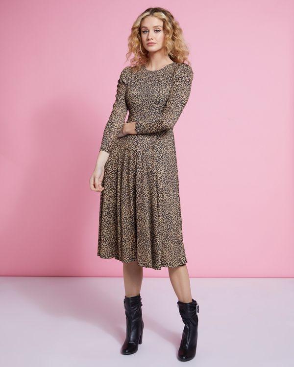 Savida Slinky Leopard Print Dress