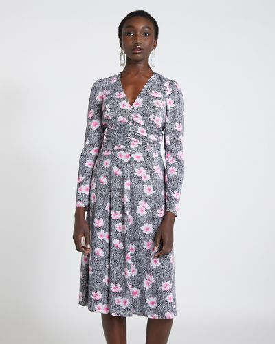 Savida Zebra Floral Print Dress