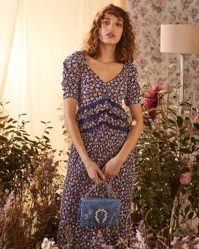 Savida Ruffle Waist Midi Dress
