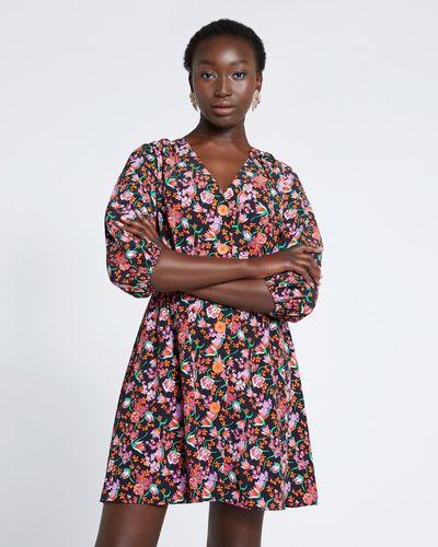Savida Print Button Dress