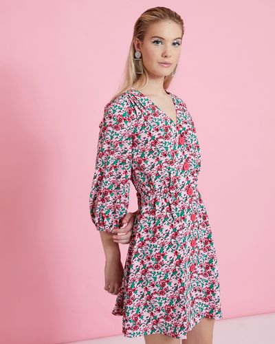 Savida Print Button Dress