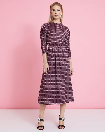 Savida Lurex Jacquard Dress