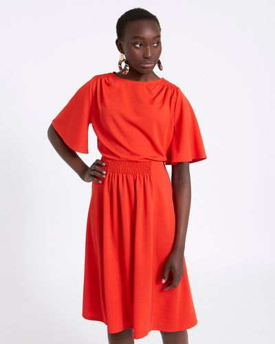 Savida Shirred Waist Dress