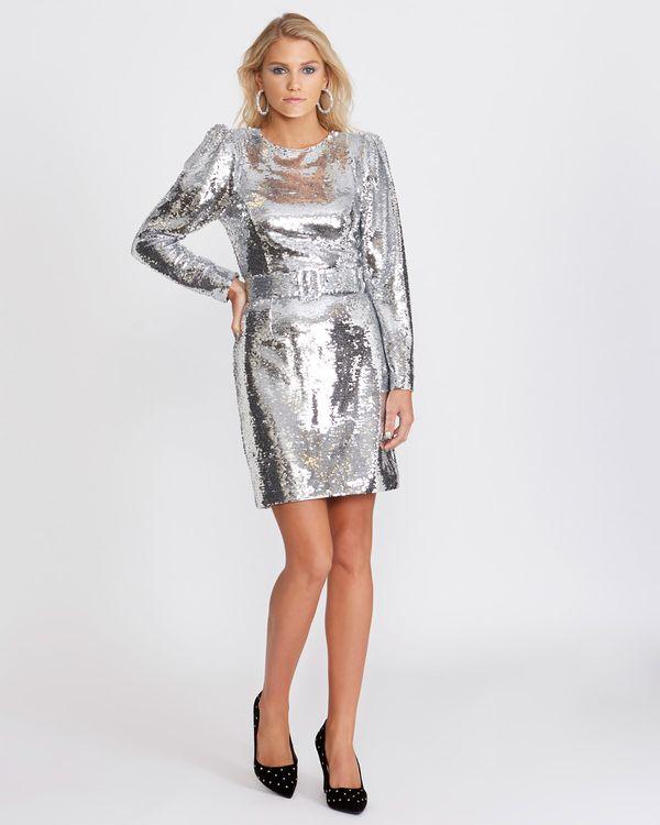 Savida Belted Sequin Dress (Online Exclusive)