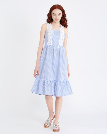 stripeSavida Crochet Stripe Dress