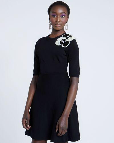 Savida Flower Sequin Embellished Dress