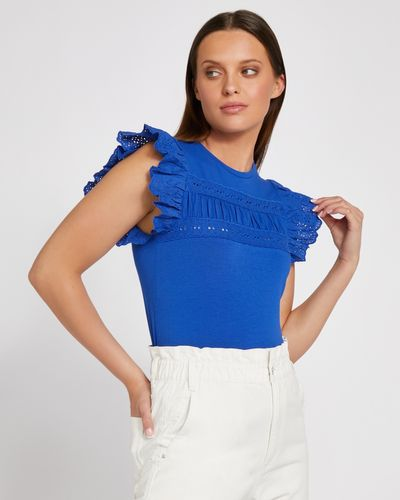 Savida Lace Frill Front T-Shirt