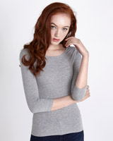 grey Savida Essential Scoop-Neck Top